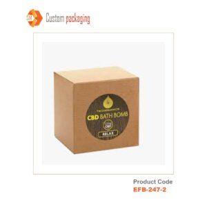 Kraft Boxes Single Bath Bomb Boxes
